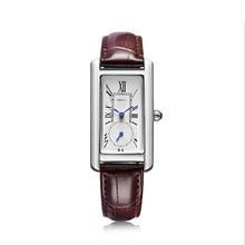 Модные брендовые кварцевые женские часы REBIRTH, прямоугольные аналоговые кожаные часы, дамские повседневные Подарочные наручные часы для девушек, Montre Femme Relogio