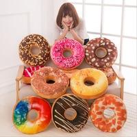 Colorful And Soft Plush Donut Sofa Seat Chair Cushion Decor Pillow Sweet Chocolates Car Mats Office