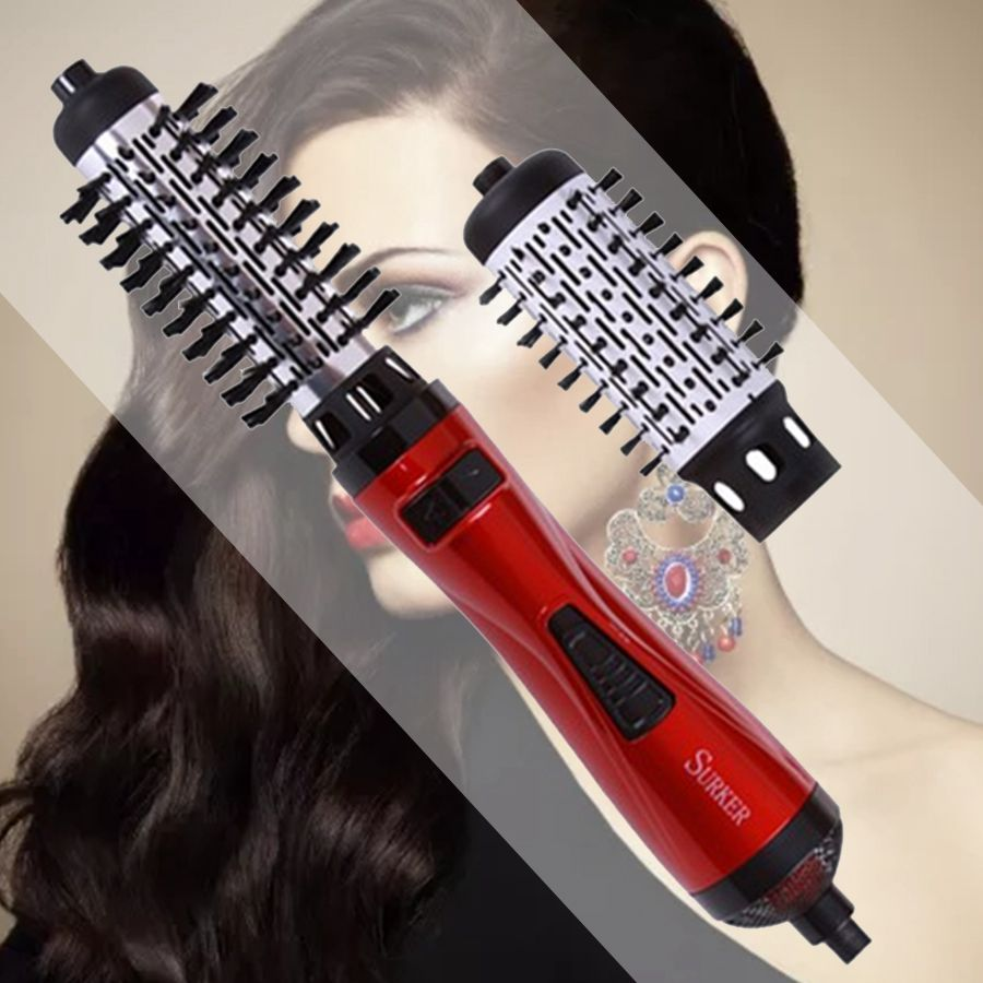 SURKER New Styling Tools 2 in 1 ProfESSional Multifunctional Hair Dryer Hair Curler Automatic Rotating Hair Brush Roller Style 2017 new hot sale professional salon ptc heating white color ceramic negative ions steam automatic hair curler hair style tools