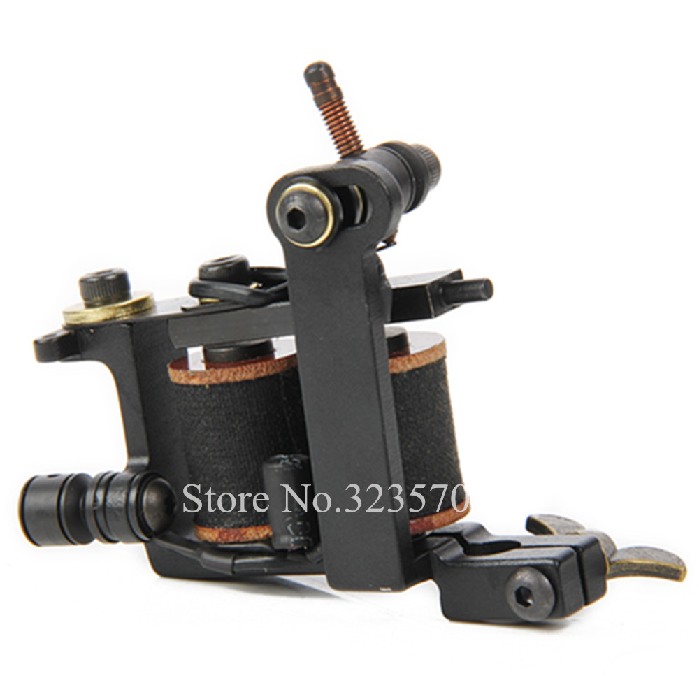 Professional Cast Iron Handmade Tattoo Machine Gun 8 Wrap Coils Tattoo Machine For Liner -- HTM-004L new arrival 2017 wholesale professional handmade tattoo 10 wrap coils machine for liner hot sale free shipping