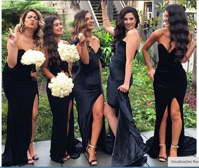 476aeb66f681 weddings with black bridesmaid dresses – Little Black Dress | Black ...