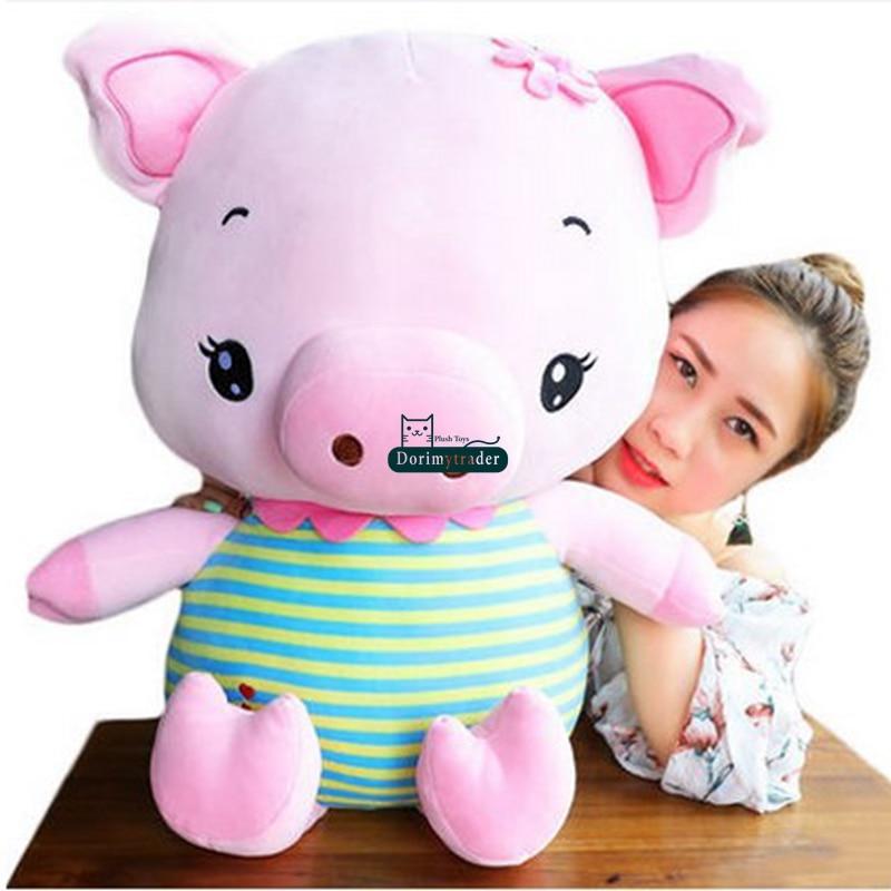dorimytrader lovely 80cm big soft animal pig stuffed doll giant cartoon pig pillow doll nice. Black Bedroom Furniture Sets. Home Design Ideas