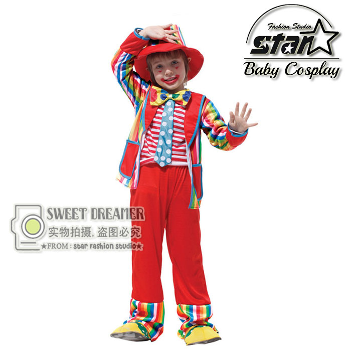 Halloween Costumes Kids Children Circus Clown Costume Naughty Joker Fancy Fantasia Infantil Cosplay Clothing for Boys Girls halloween costumes for children boys kids cosplay costume fantasia disfraces game uniforms kids clothes set