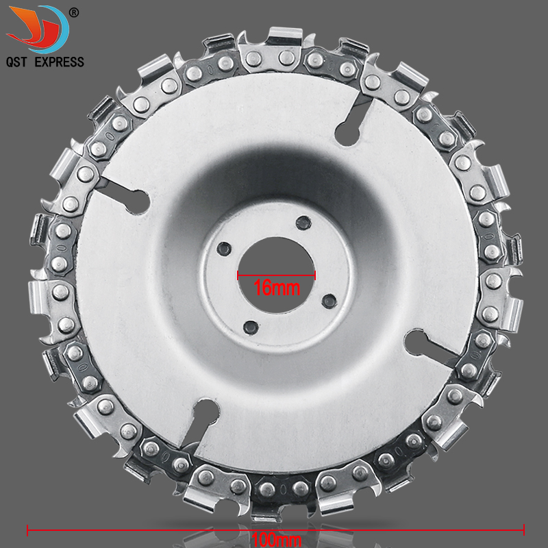 4 Inch Grinder Disc And Chain 22 Tooth Fine Abrasive Cut Chain For 100mm Angle Grinder