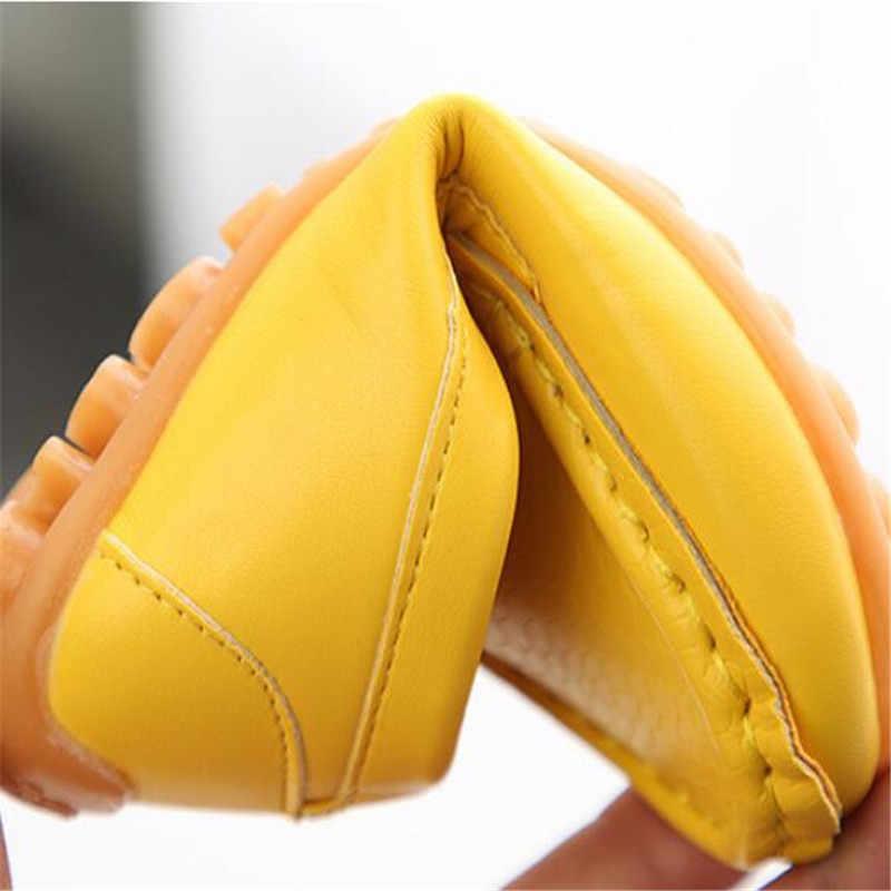 MHYONS 2018 ใหม่แฟชั่นเด็กรองเท้าขนาด 21-30 เด็ก PU หนังรองเท้าผ้าใบสำหรับรองเท้าเด็กชาย/ รองเท้าเรือนุ่ม