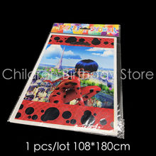 10pcs/lot Miraculous Ladybug gift bags kids birthday party decorations Ladybug plastic candy bags Ladybug theme Loot bags(China)