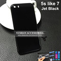 Jet Black Battery Door Cover Back Housing Mid Frame For Iphone 5 5s 6 6 Plus 6s Like 7 Style High Quality New