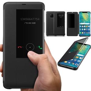 Умный флип-кейс с окошком для Huawei Mate 30 Pro Coque P40 5G P30 P20 P10 Nova 3 3I Stand кожаный чехол Honor 8X для телефона
