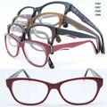 Comercio al por mayor F56 caminantes borde completo acetato de moda bicolor flexible bisagra templo clásico marcos de los vidrios ópticos para wemen