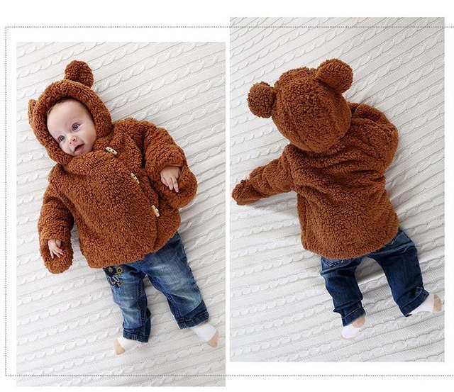 a1eb33c3e Online Shop Baby Jacket Winter Infant Girls Clothes Newborn Warm ...