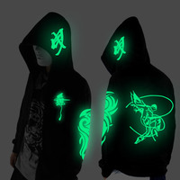 Noctilucent Long Sleeved Jacket Clothes Loose Coat And Students Fashion Clothing Dance Night Shining Clothing Ghost