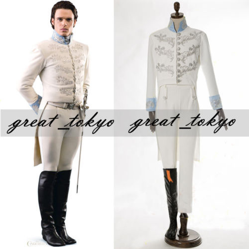 Men/Kid's Movie Cinderella Prince Charming Costume Richard Court Party Dancing Cosplay-Full set