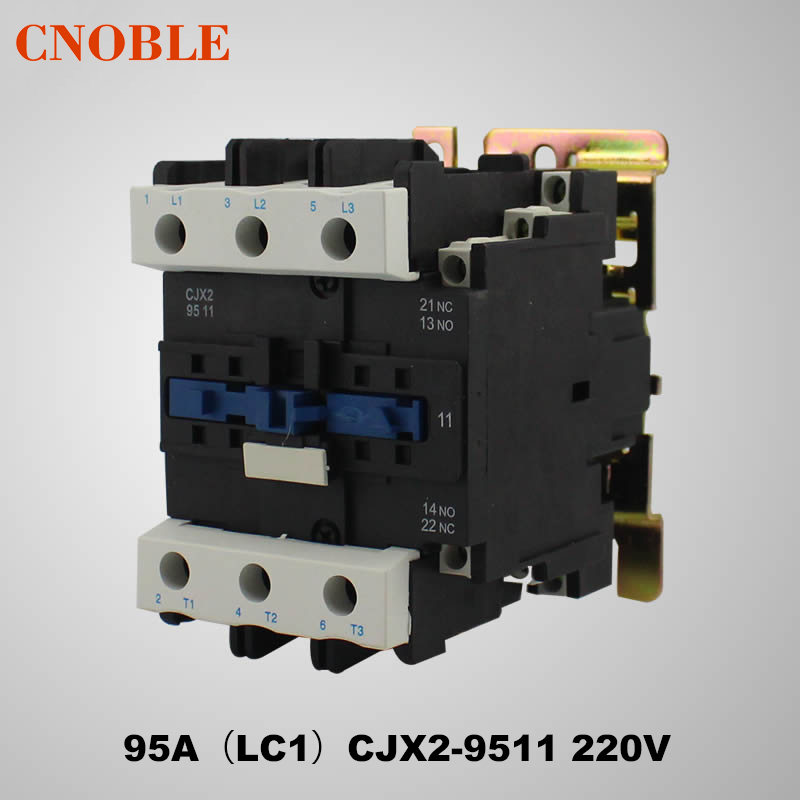 цена на AC contactor 95A (LC1) CJX2-9511 220V Coil Voltage Silver Contact