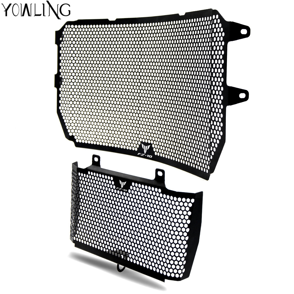 YOWLING For YAMAHA MT-10 MT10 FZ-10 MT 10 2016 2017 New Black Motorcycle Accessories Radiator Grille Guard Cover Protector MT-10 for yamaha mt 07 mt 07 fz 07 fz 07 radiator grille guard cover protector for yamaha mt07 fz07 2014 2015 2016 2017