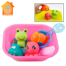 Mini Tudou Baby Bath Toys Rubber Water Spraying Baby Toys Sq