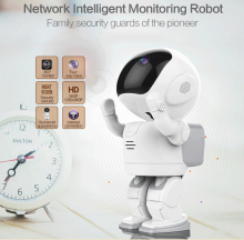 Robot Wireless P2P Cloud Technology IP WIFI Camera Night Vision Mutiple Languages Remote Surveillance Alarm IOS Android