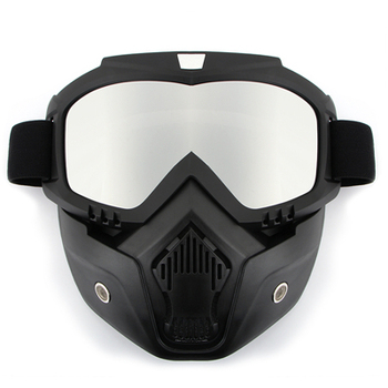 Dust-proof Men Women Cycling Bike Full Face Mask Windproof Winter MTB Goggles Bicycle Snowboard Ski Masks with Anti-UV Glasses 8