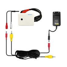CCTV высокочувствительный микрофон комплект с м 10 м RCA аудио Мощность кабель и В DC 12 В адаптер для дома безопасности камера DVR NVR системы