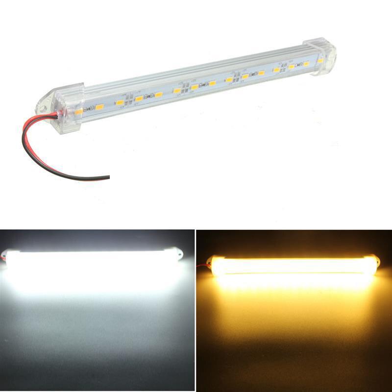 25cm 12V Led Bar 5630 18 SMD Aluminium Rigid LED Hard Strip Bar Lamp Warm White