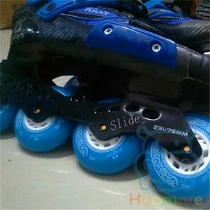 Image 5 - Famous Chinese Branded Slide Wheel for Sliding Inline Skates, 88A with Orange Blue 80mm 76mm 72mm 4 pcs/lot