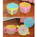 sale baby infant pp handlebar bowl spill-proof design snack pot snack cups baby biscuits small double handle bowls size 9X9X6CM