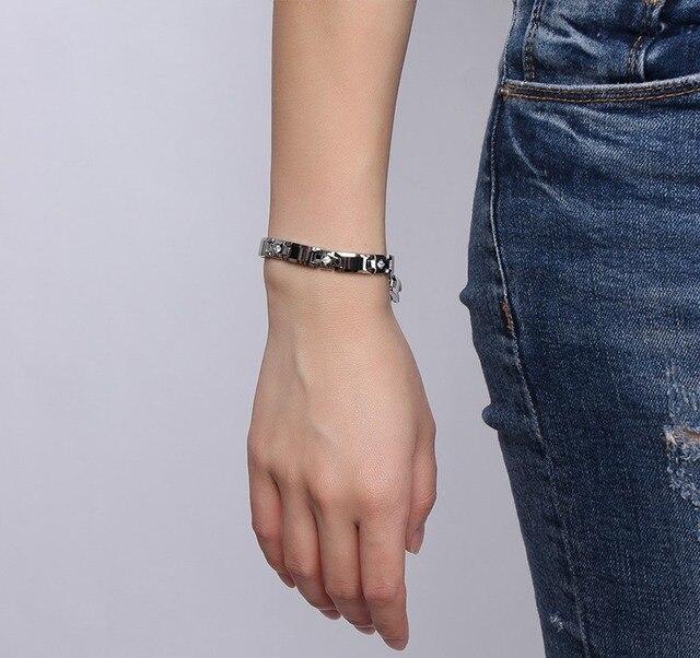Купить женский браслет из чистого вольфрама магнитный 3 а с кубическим картинки