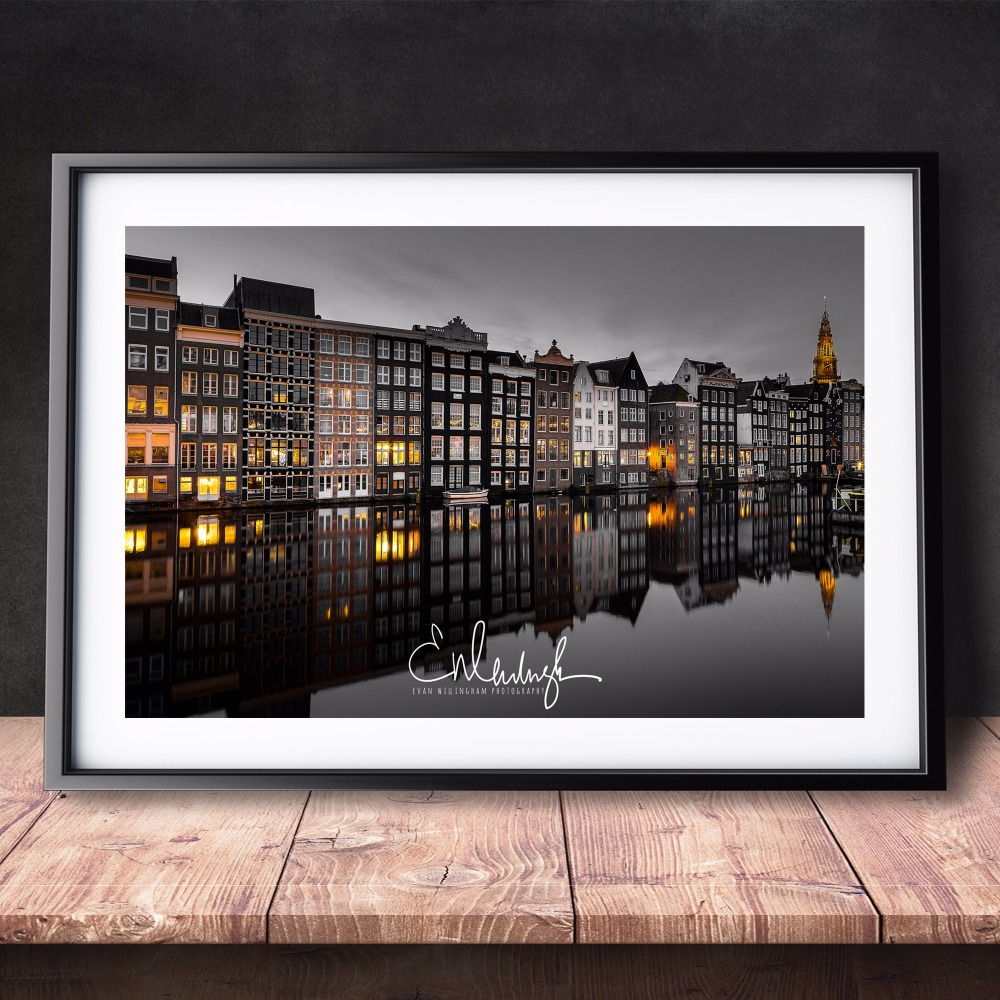 Amsterdam Landscape Photos Modern Poster Art Wall Pictures Silk ...