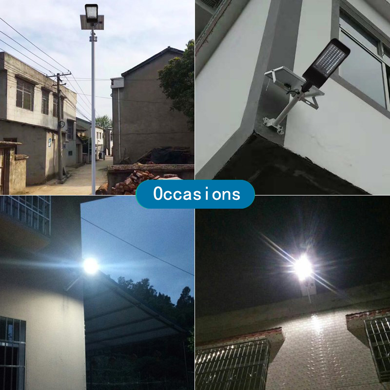 Image 5 - Black Casing Solar Led Street Light With Lens Waterproof IP65 Remote Control 80W 150W Led Solar Lamp For Garden Path Light Pole-in Street Lights from Lights & Lighting