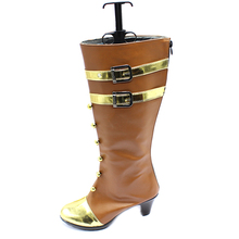 Cospaly LOL The Sheriff Of Piltover Caitlyn Womens Shoes Leather High Boots