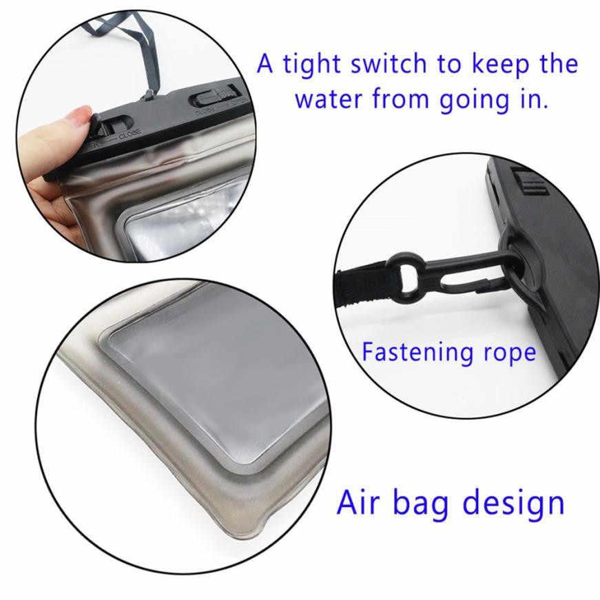 العائمة غطاء هاتف مضاد للماء مقاوم للماء الخلية المنشورية أو الجرابية الهاتف حقيبة جافة آيفون X/الهواتف الذكية تصل إلى 6 بوصة ملحقات الهاتف