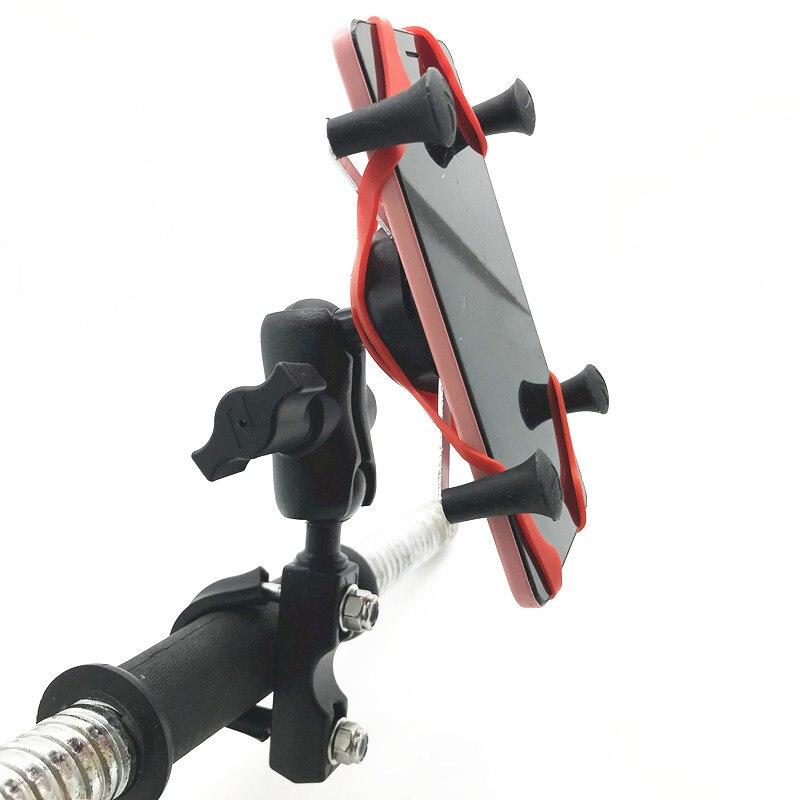 Мотоциклетная Тормозная муфта u болт Универсальный Набор X Grip с 1 дюймовым резиновым шариком с двойным гнездом для оперативной памяти для ра