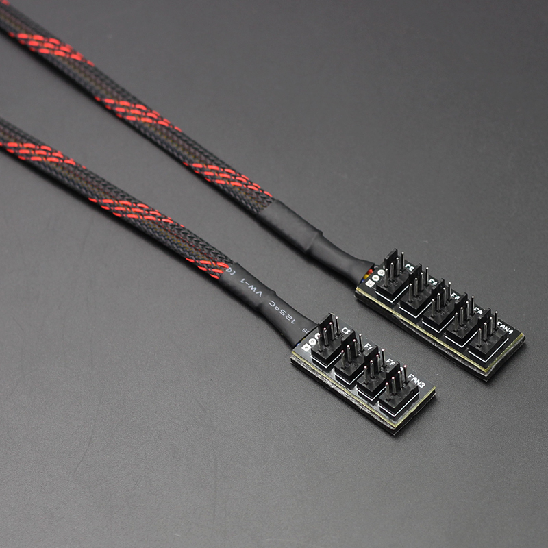 1 PCS new 3pin to 4 pin Male 4Pin Socket fan Hub Splitter for 3Pin/4Pin PWM Cooling Host Case PC Cooler fan adapter Power Cable