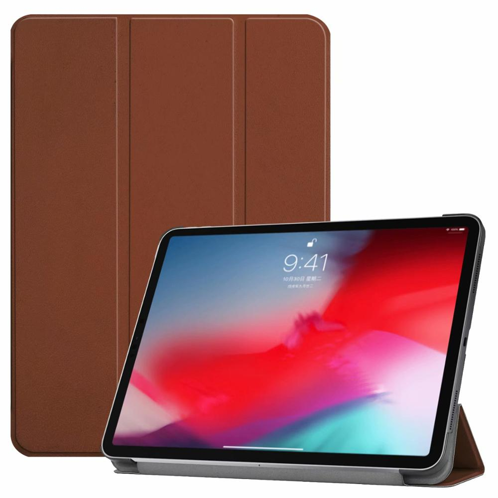 Brown iPad Pro3 11 2018 smart case with different patterns