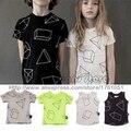 2017 новый nununu весна лето дети майки топы Футболки детские мальчики девочки футболка bebe детская одежда