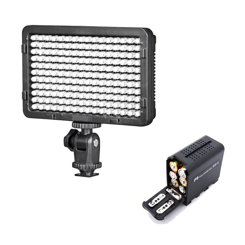 SETTO 176 LED Video Light Photo Lighting on Camera Video Hotshoe LED Lamp Light for Canon Nikon DV Camcorder DSLR Wedding