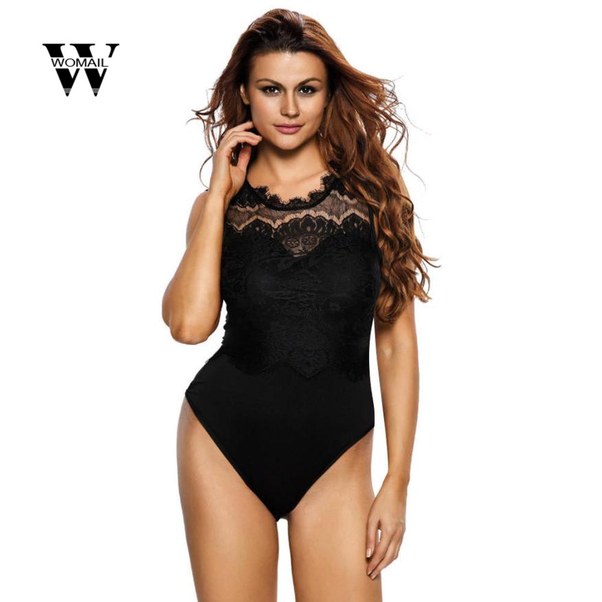 2018 Spring New Womens Sexy Bodysuit For Women Sexy Lace Cut Out Back Jumpsuits Playsuit Jumpsuit Romper Amazing Jan 3