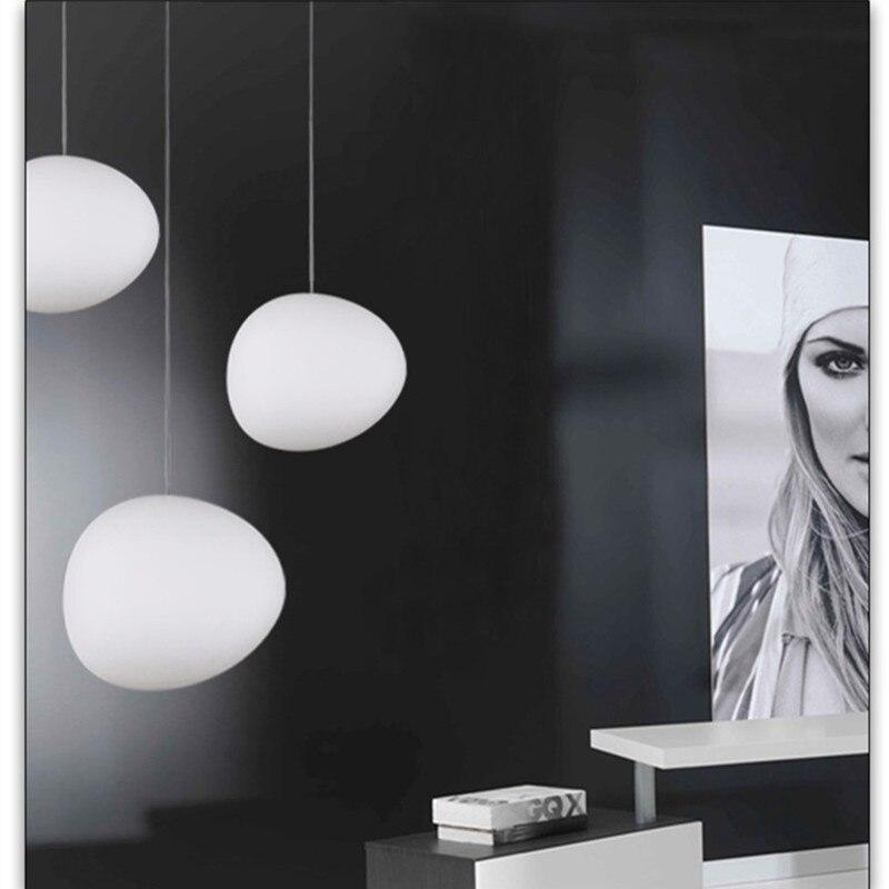 Nordycki wisiorek lampa lampy wiszące led okrągły globe szkło Hanglamp do salonu sypialnia Luminaria oświetlenie kuchni oprawy