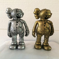Gold Silver Originalfake KAWS Dissected Companion Action Figure Kids Adults Toys Original Fake Office Home Decoration