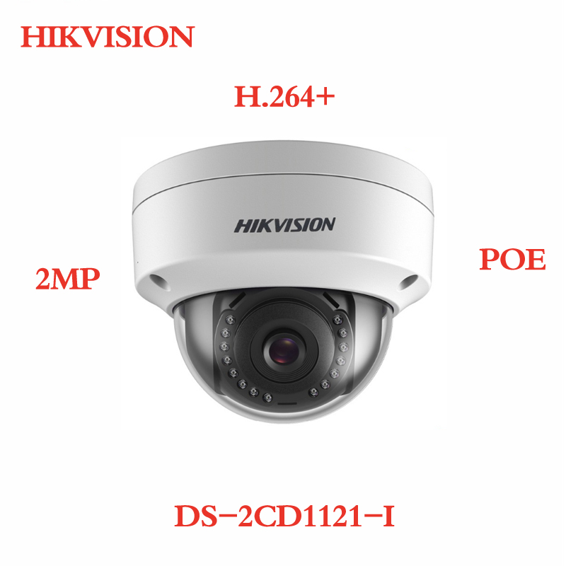 ANXIE Hikvision Security IP Camera 2MP 1080P CMOS PoE IP Camera outdoor DS-2CD1121-I with DWDR IP 67 No SD card Slot цена