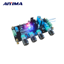 Aiyima Pré amplificateur musique Volume Tone Control Board Fièvre op amp préamplificateur 2604 AD827 AC Double 15 V-20 V