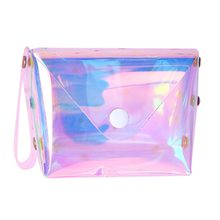 women Holographic Transparent coin purse fashion Jelly Money pouch Girls laser sweet short mini wallet for female cute monedero(China)