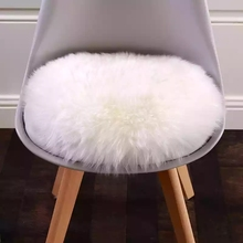 AOZUN Round long wool NewZealand full pelt cutting sheepskin 60*60cm real sheep fur carpet for living room decoration,chair pad