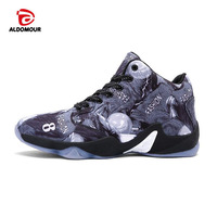 ALDOMOUR Cheap Basketball Shoes Men Bounse Techonology Lace Up Damping Sneakers Sport Shoes Chaussures De Basketball
