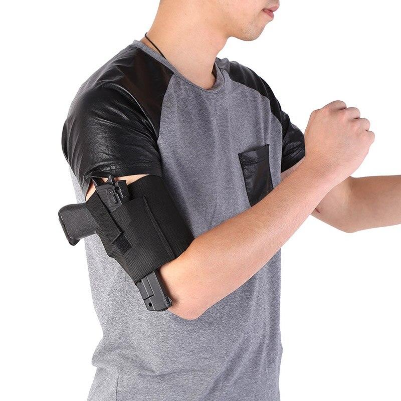 Outdoor Adjustable Tactical Padded Concealed Holster Strap Belt Leg Ankle Gun Holster Pouches Black Hunting Bag Belt