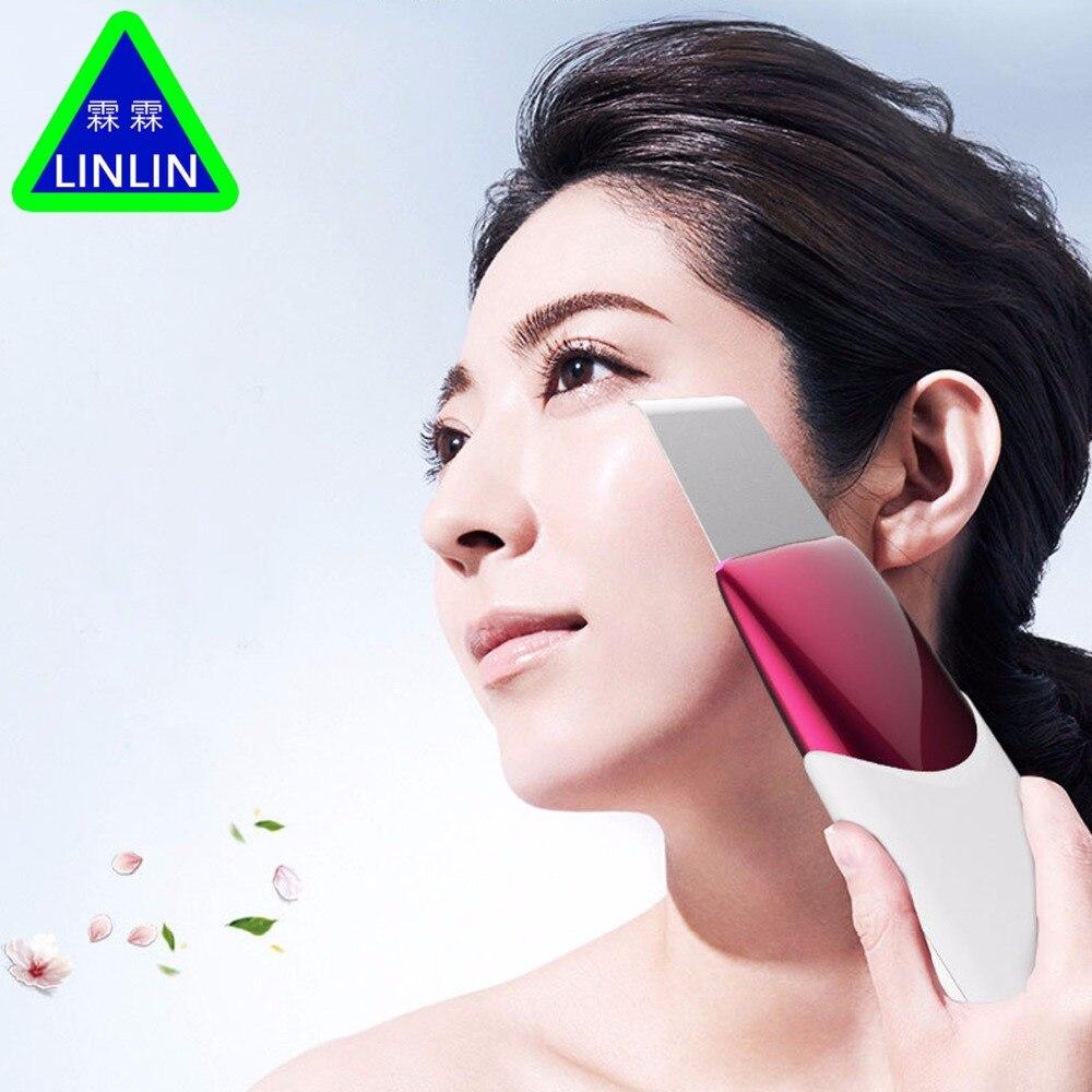 LINLIN Uso Domestico Ricaricabile Ad Ultrasuoni Galvanica Ion Pelle Pulizia Scrubber Pelle Peeling Viso Cleaner Massaggiatore Viso Bellezza