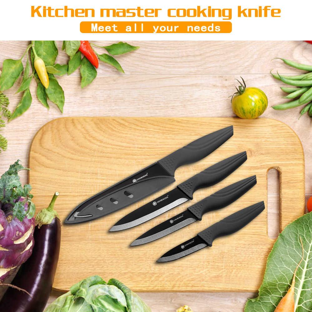 """Coobeza faca de cerâmica profissional, lâmina de cerâmica de 3 """"4"""" 5 """"6"""" na cor preta faca 3 peças conjunto somente para venda"""