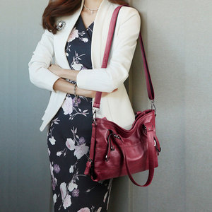 Image 2 - Women PU Leather Handbags Designer Soft Shoulder Bags For Women Messenger Bags Crossbody BagsTop Handle Bags Bolsa 3098