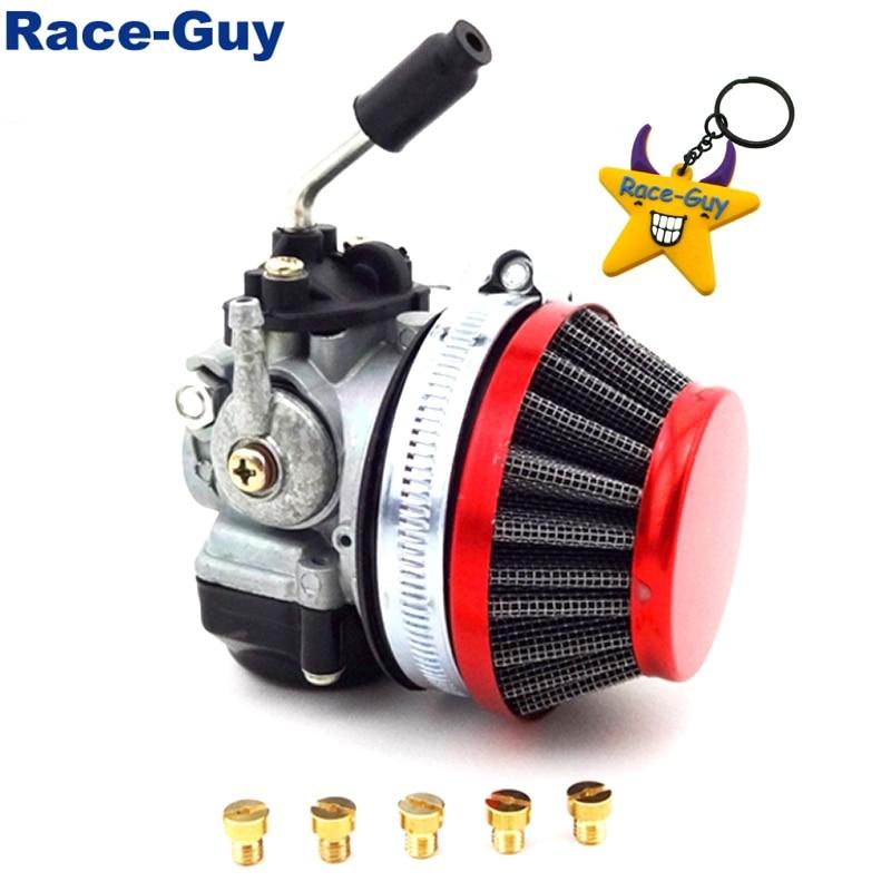 Race-Guy Racing Carb Carburetor 58mm Blue Air Filter Jets for 49cc 50cc 60cc 66cc 80cc 2 Stroke Engine Gas Motorized Bicycle Push Bike