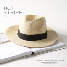Wide Brim Summer Straw Sun Hats Women Fedora Jazz Cap Panama For Men Beach Couple Visor Chapeu