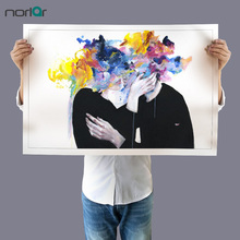Watercolor Kiss Lovers Canvas Painting Modern Wall Art Picture Intimacy on Display Art  Prints Home Decor No Frame